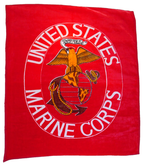 Marine Corps Blanket - Large View